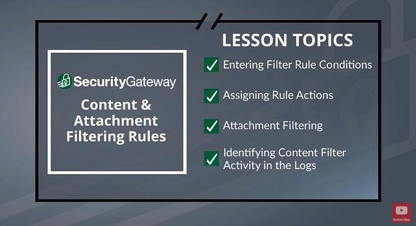 Create Content Filter Rules