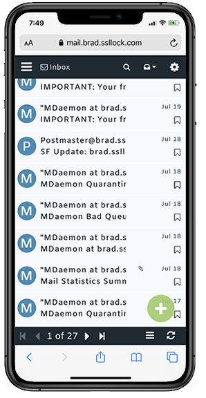 Redesigned MDaemon Webmail for Mobile Devices - with responsive design for mobile phones and tablets