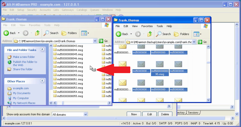 Restoring Email Messages