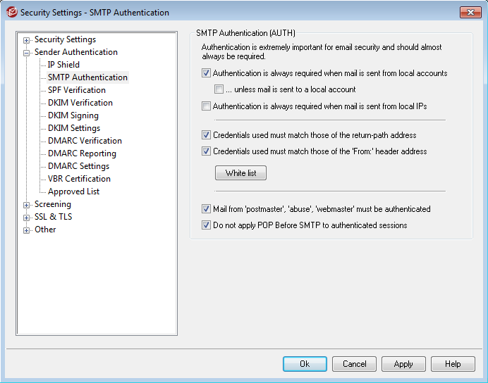 SMTP Authentication in MDaemeon