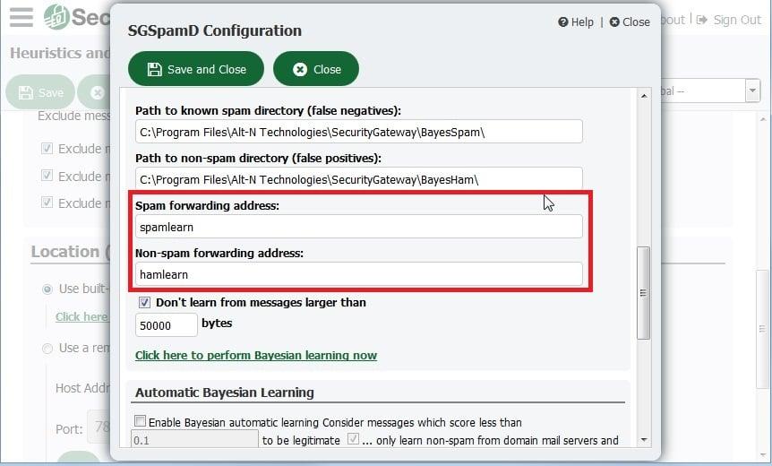Spam Forwarding Addresses