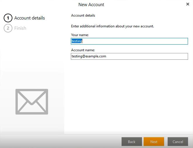 eM Client Verify Account