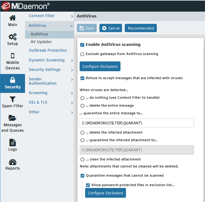MDaemon Email Server Antivirus