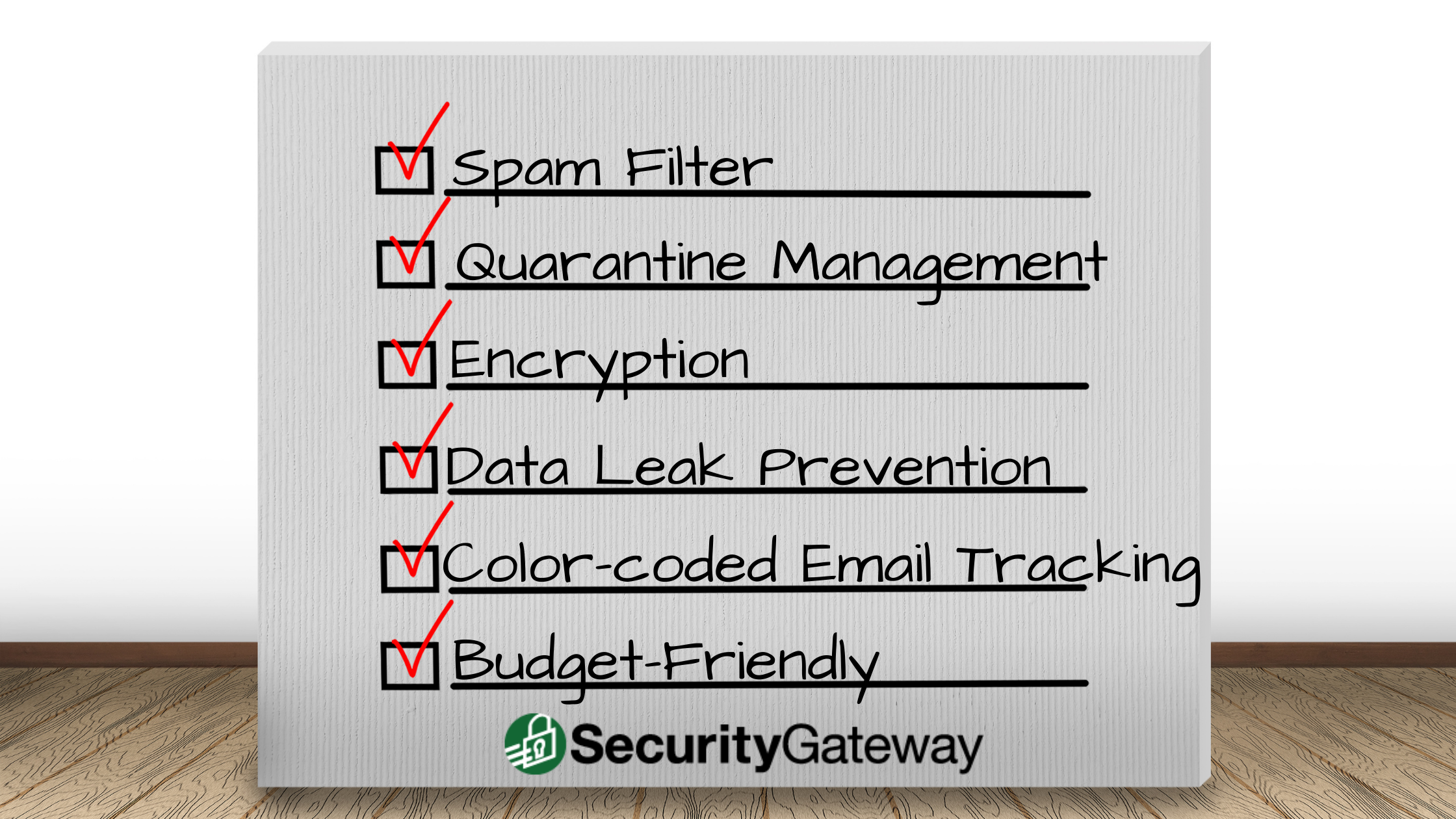 Security Gateway for Email Features - Spam Filter, Quarantine Management, Encryption, Data Leak Prevention