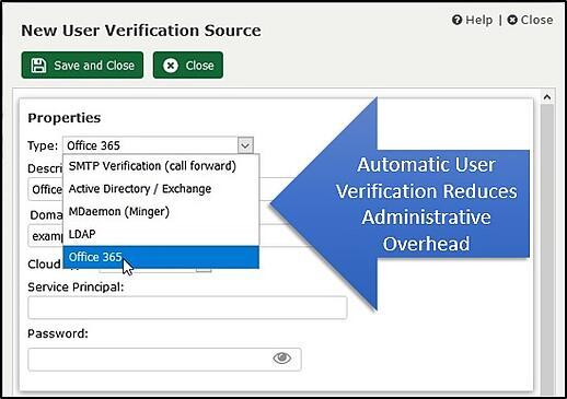 Office 365 User Verification in Security Gateway for Email