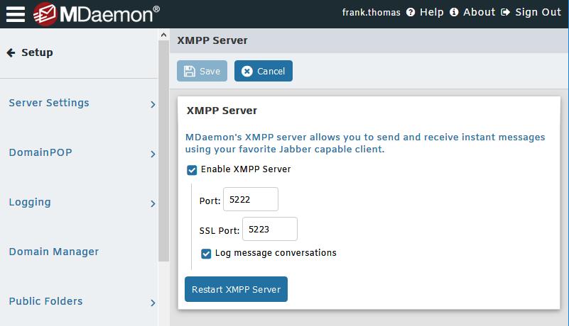 Secure instant messaging - MDaemon Email Server